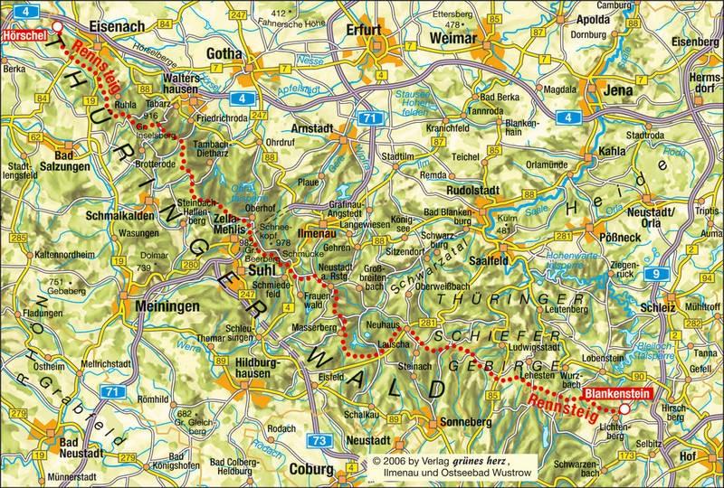 Thüringer Wald en Rennsteig